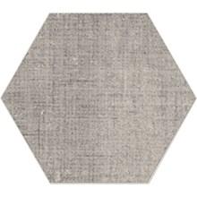Textile Silver Hexagon