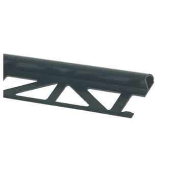 Kakellist plast svart 6 mm 2,5m 26093