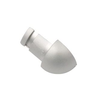 Hörndel kv.rund alu silver matt 12,5 mm 231