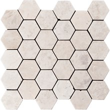 Indostone White Hexagon