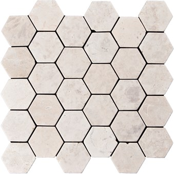 Indostone White Hexagon 7270
