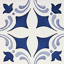 Rustica Oropesa Azul/Blå Blank Dekor