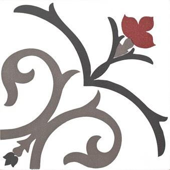 Kerion Dekor Branche Framboise röd/grå 4838