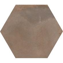 Keramos Mikonos Brun Hexagon