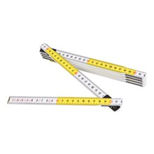 Centimeterstock vit/gul