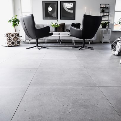 Fjord, Grey (60x60 cm).