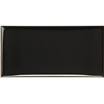 Cotton Black Svart Vågig Glossy Blank 7266