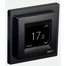Devireg Touch termostat Svart
