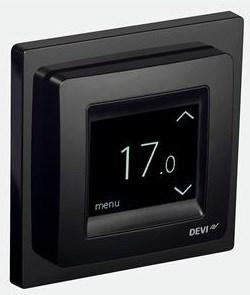 Devireg Touch termostat Svart 4955