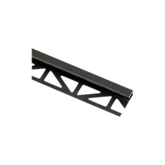 Kantlist kvadrat alu. svart 12,5 mm, Cubeline 17578