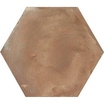 Terra Rosso Brun Hexagon 4719