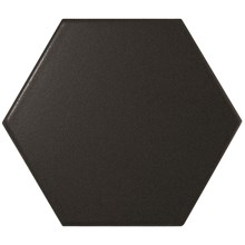Scale Black Svart Hexagon