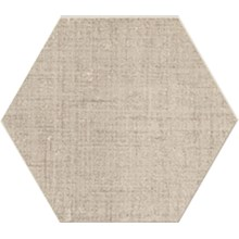 Textile Vit Hexagon
