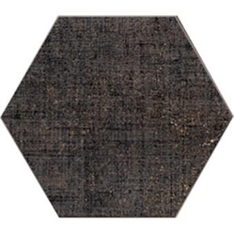 Textile Antracit Hexagon 4727