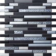 Quartz Black Svart Stavmosaik