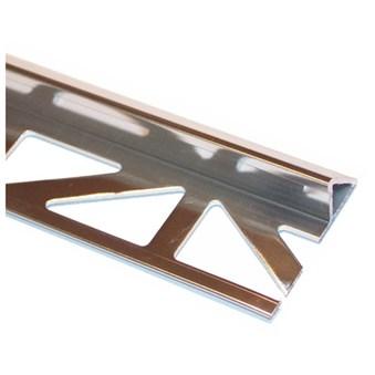 Kantlist 45°  10 mm alu. silver blank 16565
