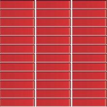 Glasmosaik Röd blank