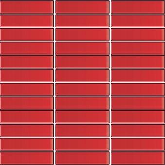 Glasmosaik Röd blank 7987