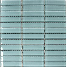 Glasmosaik Isblå Blank(B39)