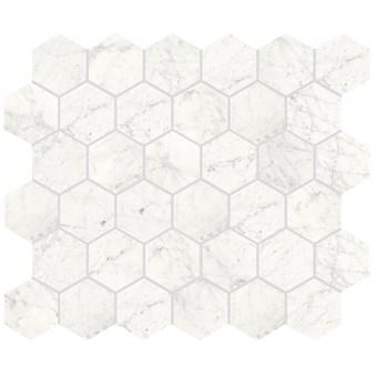 Marmi Cararra Naturale Hexagon Rect 7014