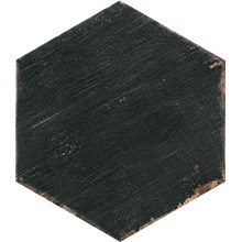 Retro Negre Svart Hexagon