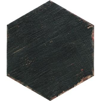 Retro Negre Svart Hexagon 5477