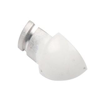 Hörndel kvartsrund  plast vit 8 mm 201