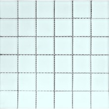 Glasmosaik Vit blank
