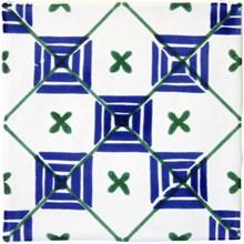 Smögen Dekor Azul Blå/Grön PS-1304