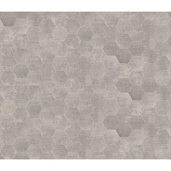 Textile Silver Hexagon 4725