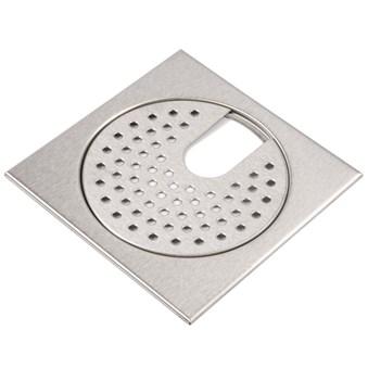Golvsil med urtag mattborstad 200x200 mm 1611
