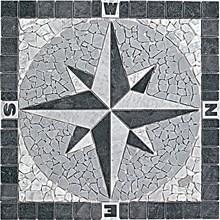 Kompass svart/grå