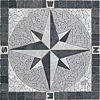 Kompass svart/grå 7597