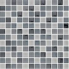 Glasmosaik Gråmix blank
