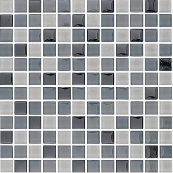 Glasmosaik Gråmix blank 7989