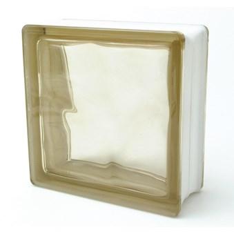 Glasblock P brun Siena 19/O 3412