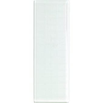 Avslutningsplatta för glasblock 19x7,2cm 7906