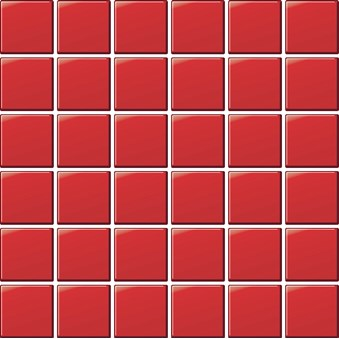 Glasmosaik Röd blank 7982