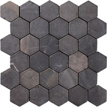 Indostone Grey/Black Hexagon