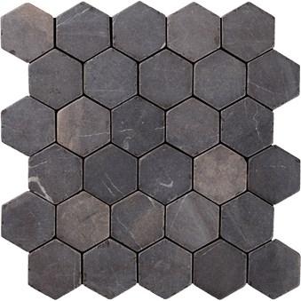 Indostone Grey/Black Hexagon 7271