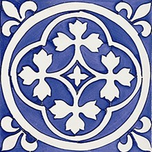 Rustica Almedijar Azul/Blå Blank Dekor