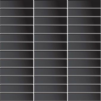 Glasmosaik Svart Blank(G03) 5634