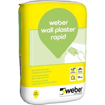 Weber wall plaster rapid 15kg 28271