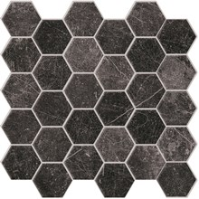 Panarea Black Svart Nat Hexagon Rect