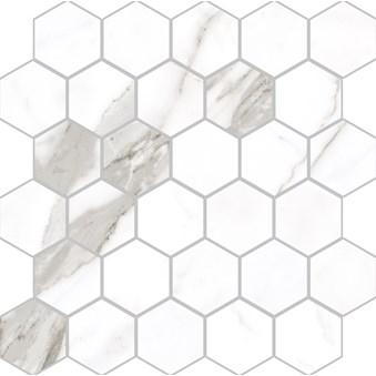 Marmi Statuario Levigato Hexagon Rect 7037