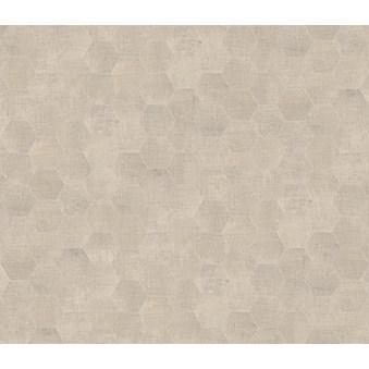 Textile Vit Hexagon 4729
